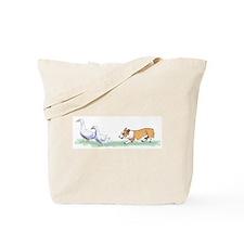 Pembroke Corgi Herding Tote Bag