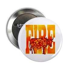 """Chinese Fire Ox 2.25"""" Button"""