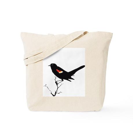 Redwinged Blackbird Tote Bag
