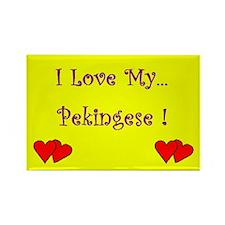 I Love My Pekingese Rectangle Magnet