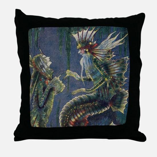 Mer King Throw Pillow
