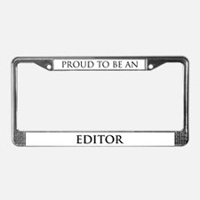 Proud Editor License Plate Frame