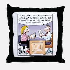 Computer Code Interview Throw Pillow