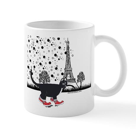 Tuxedo cat in Paris Mug