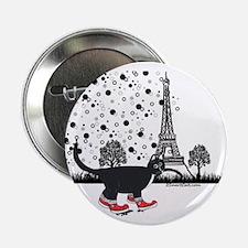 """Tuxedo cat in Paris 2.25"""" Button"""