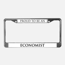 Proud Economist License Plate Frame