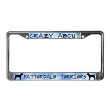 Crazy About Patterdale Terrier License Plate Frame