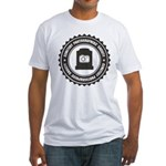 Cemetery Photo Soc Fitted T-Shirt