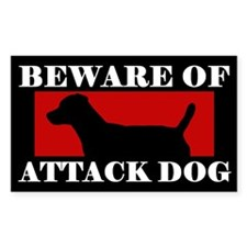 Beware of Attack Dog Patterdale Terrier Decal