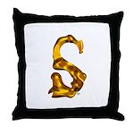 Blown Gold S Throw Pillow
