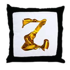 Blown Gold Z Throw Pillow
