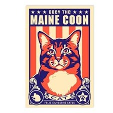 Obey the Maine Coon Cat! Postcards (Package of 8)