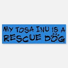 Rescue Dog Tosa Inu Bumper Bumper Bumper Sticker