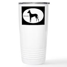Xoloitzcuintli Silhouette Travel Mug