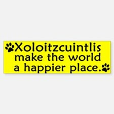 Happy Place Xoloitzcuintli Bumper Bumper Bumper Sticker
