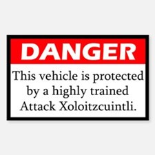 Attack Xoloitzcuintli Decal