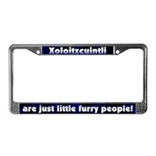 Furry People Xoloitzcuintli License Plate Frame