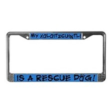 Rescue Dog Xoloitzcuintli License Plate Frame