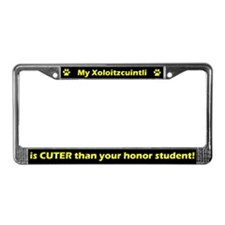 Honor Student Xoloitzcuintli License Plate Frame