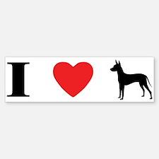 I Heart Xoloitzcuintli Bumper Bumper Bumper Sticker