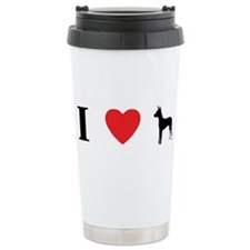 I Heart Xoloitzcuintli Travel Mug