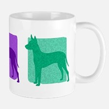 Color Row Xoloitzcuintli Mug