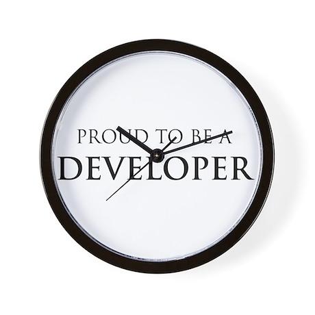 Proud Developer Wall Clock