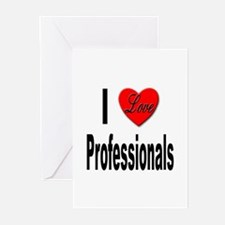 I Love Professionals Greeting Cards (Pk of 10)