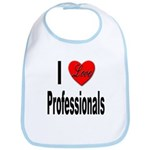 I Love Professionals Bib