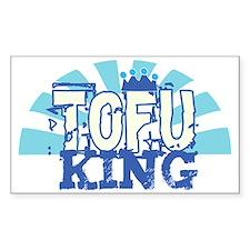 Tofu King Rectangle Decal