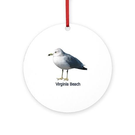 Virginia Beach Gull Ornament (Round)