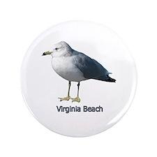 """Virginia Beach Gull 3.5"""" Button"""