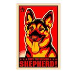 Obey the German Shepherd! Postcards (Pack of 8)