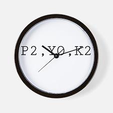 P2,YO,K2 (Knitting) Wall Clock