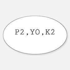 P2,YO,K2 (Knitting) Oval Decal