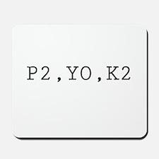 P2,YO,K2 (Knitting) Mousepad