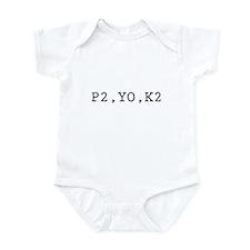 P2,YO,K2 (Knitting) Infant Bodysuit