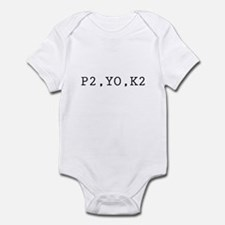P2,YO,K2 (Knitting) Infant Bodysuit