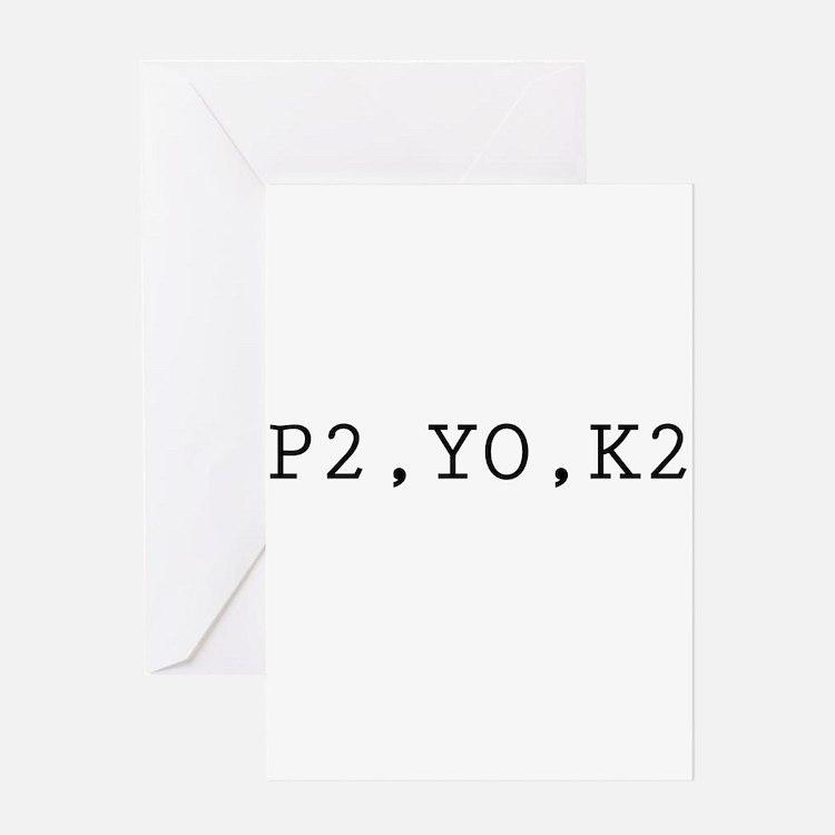 P2,YO,K2 (Knitting) Greeting Card