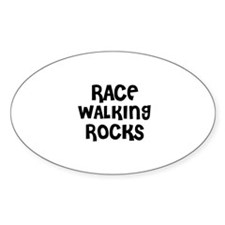 RACE WALKING ROCKS Oval Stickers