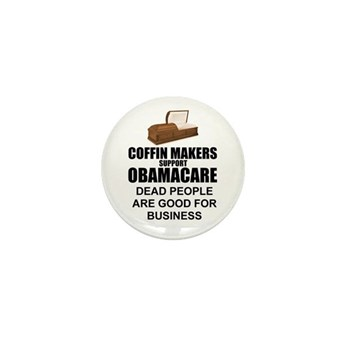 NOBamaCare - Anti Obama Healt Mini Button (10 pack