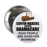 "NOBamaCare - Anti Obama Healt 2.25"" Button (1"