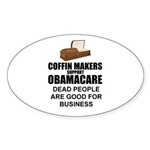 NOBamaCare - Anti Obama Healt Oval Sticker (10 pk)