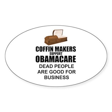NOBamaCare - Anti Obama Healt Oval Sticker