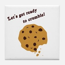 Funny Chocolate Chip Cookie Tile Coaster