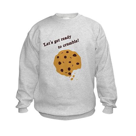 Funny Chocolate Chip Cookie Kids Sweatshirt