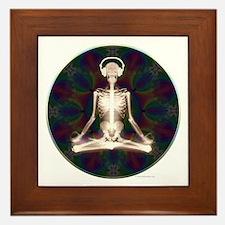Skeleton Yoga Framed Tile