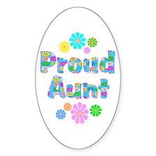 Aunt Oval Sticker (10 pk)