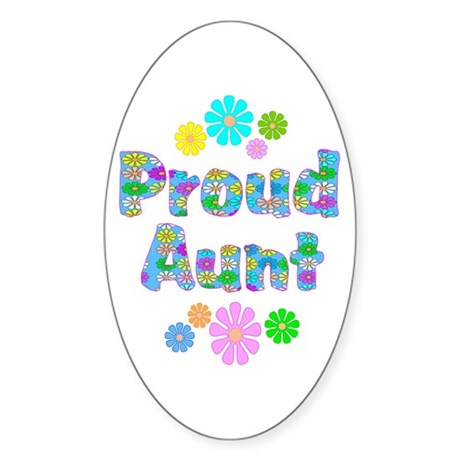 Aunt Oval Sticker