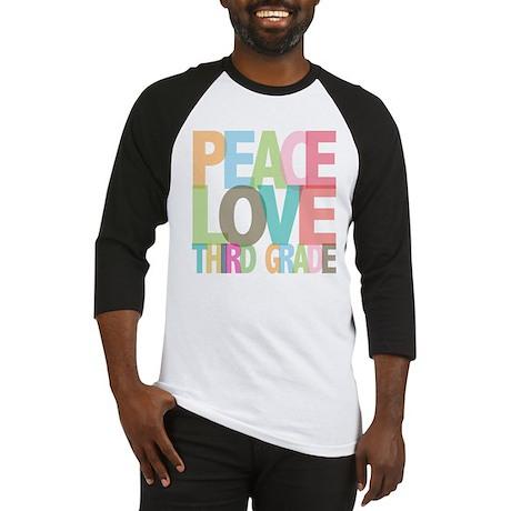 Peace Love Third Grade Baseball Jersey